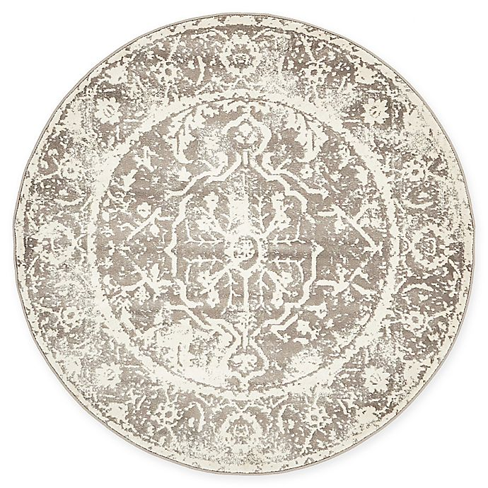 Alternate image 1 for Arcadia Athens 4' Round Area Rug in Grey