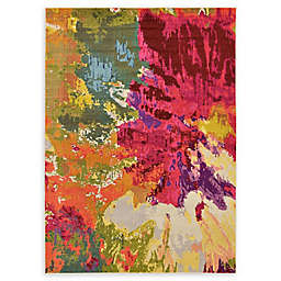 Unique Loom Barcelona Apollo 7' x 10' Power-Loomed Area Rug in Pink