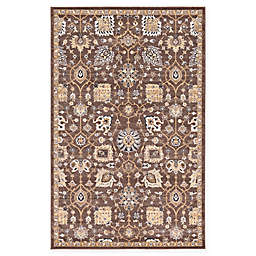 Unique Loom Lily Heritage Rug in Brown