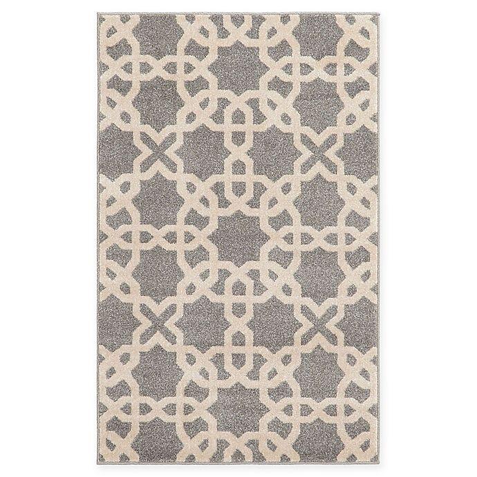 Alternate image 1 for Unique Loom Trellis 3' x 5' Area Rug in Grey