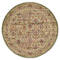 Unique Loom Colonial Agra 6' Round Area Rug in Light Green