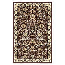 Unique Loom Isfahan Rug in Brown