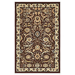 Unique Loom Isfahan Rug in Brown