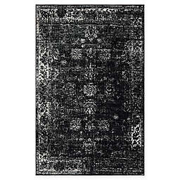 Unique Loom Sofia Floral 5' x 8' Area Rug in Black