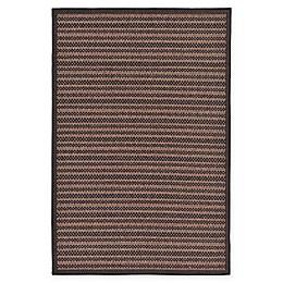 Unique Loom Checkered Trellis Indoor/Outdoor Rug in Brown