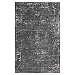 Unique Loom Sofia Floral Rug in Dark Grey