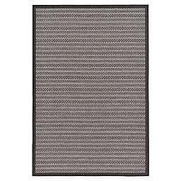 Unique Loom Checkered Trellis Indoor/Outdoor Rug in Grey