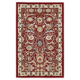 Unique Loom Isfahan Rug in Red