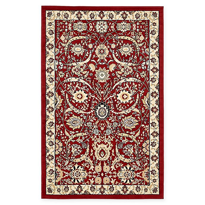 Alternate image 1 for Unique Loom Isfahan Rug in Red