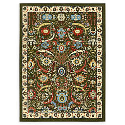 Unique Loom Isfahan 7' x 10' Area Rug in Green