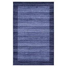 Unique Loom Del Mar Abigail Rug in Navy Blue