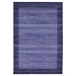 Unique Loom Del Mar Abigail 6' x 9' Area Rug in Navy Blue