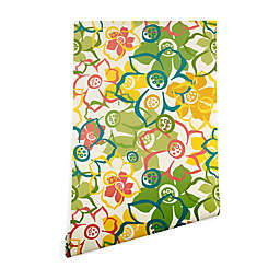 Deny Designs Heather Dutton Bouquet Wallpaper in Green/Yellow
