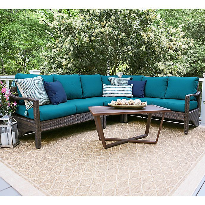 Leisure Made Augusta 5 Piece Sectional Patio Furniture Set Bed Bath Beyond