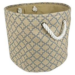 Design Imports Burlap Storage Bin Collection