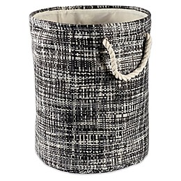 Design Imports Tweed Round Paper Storage Bin