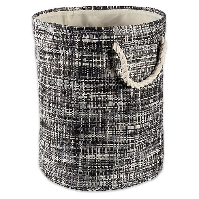 Alternate image 1 for Design Imports Tweed Round Paper Storage Bin