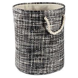 Design Imports Tweed Round Paper Storage Bin