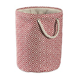 Design Imports Geometric Diamonds Round Paper Storage Bin
