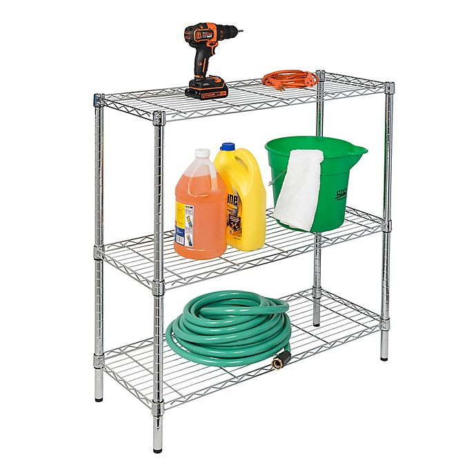3 Tier Adjustable Chrome Storage Shelf, Adjustable Storage Shelves