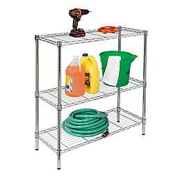 Honey-Can-Do® 3-Tier Adjustable Chrome Storage Shelf