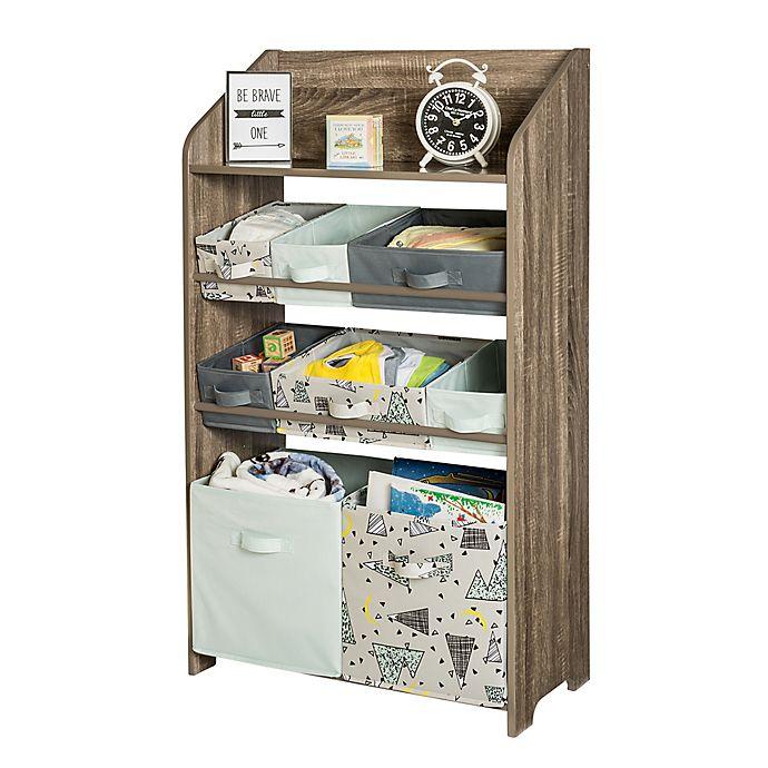 Alternate image 1 for Honey-Can-Do® 4-Tier Kids' Storage Organizer in Grey