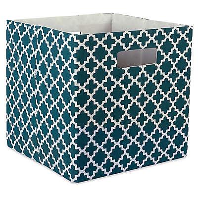 Design Imports Lattice 11-Inch Storage Cube
