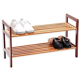 New Ridge Home Goods® 2-Tier Bamboo Shoe Rack