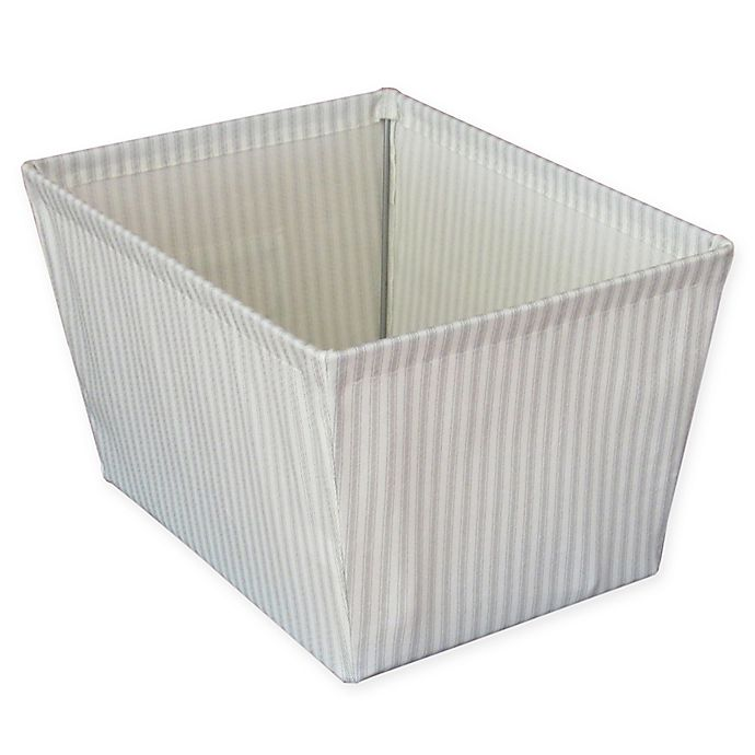 Alternate image 1 for Bee & Willow™ Home  Ticking Stripe Storage Bin