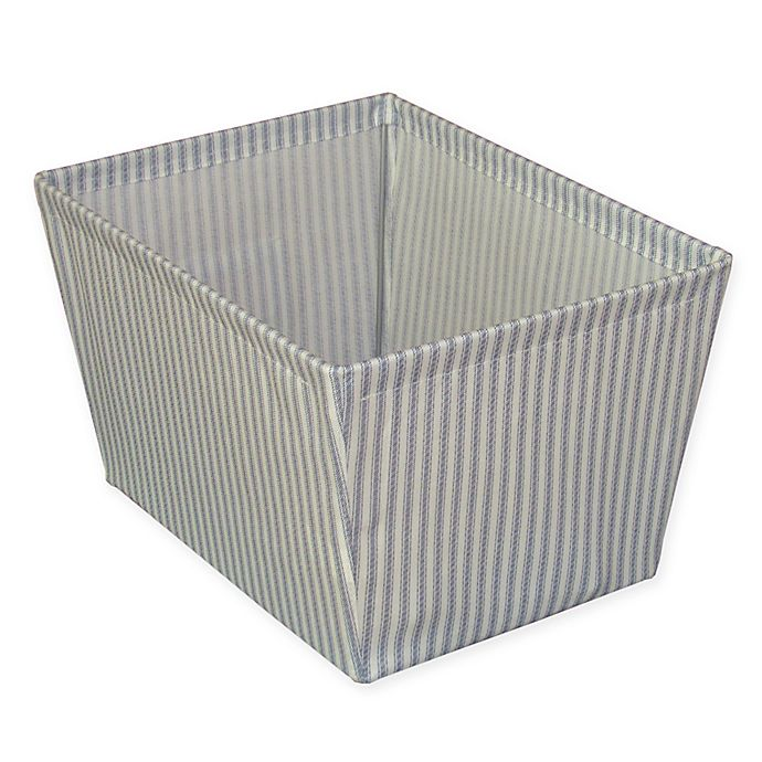 Alternate image 1 for Bee & Willow™ Home Ticking Stripe Storage Bin in Blue