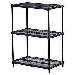 Design Ideas® MeshWorks® 3-Tier Steel Wire Shelving in Black