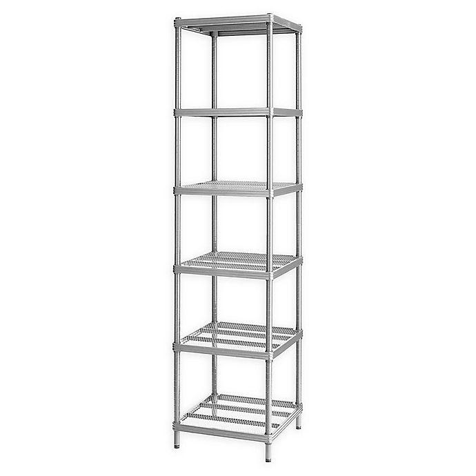 Alternate image 1 for Design Ideas® MeshWorks®  Narrow 6-Shelf Storage Unit