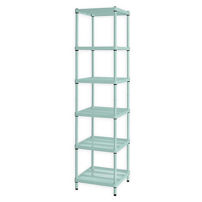 Alternate image 1 for Design Ideas® MeshWorks®  Narrow 6-Shelf Storage Unit in Green