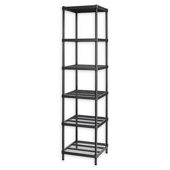 Alternate image 1 for Design Ideas® MeshWorks®  Narrow 6-Shelf Storage Unit in Black