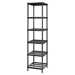 Design Ideas® MeshWorks®  Narrow 6-Shelf Storage Unit in Black