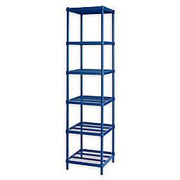 Design Ideas® MeshWorks®  Narrow 6-Shelf Storage Unit in Blue