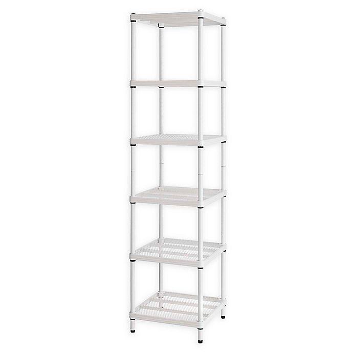 Alternate image 1 for Design Ideas® MeshWorks®  Narrow 6-Shelf Storage Unit in White