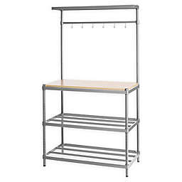 Design Ideas® MeshWorks 3-Shelf Utility Storage Rack with Wooden Top