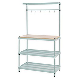 Design Ideas® MeshWorks 3-Shelf Utility Storage Rack with Wooden Top
