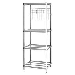 Design Ideas® MeshWorks 4-Shelf Metal Shelving Unit with Grid