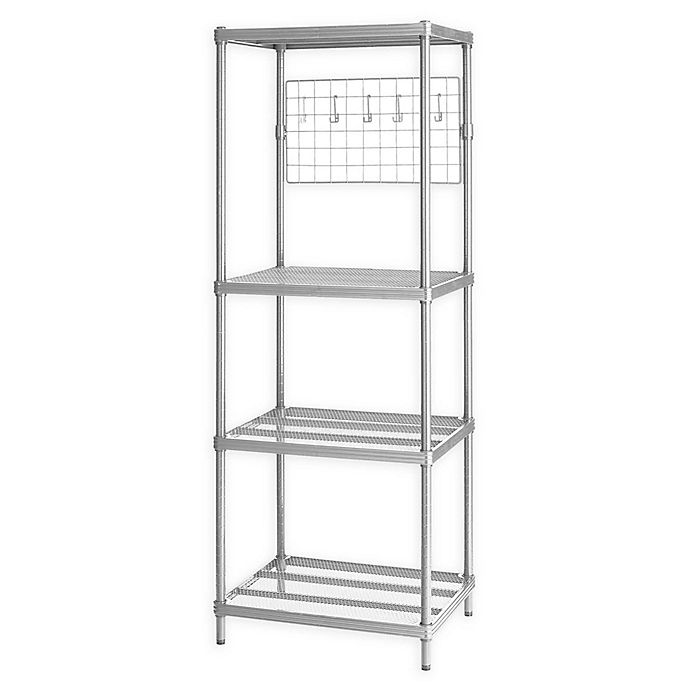 Alternate image 1 for Design Ideas® MeshWorks 4-Shelf Metal Shelving Unit with Grid