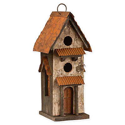 National Tree Company Birdhouse in Brown