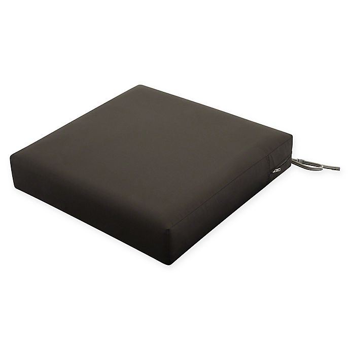 Alternate image 1 for Classic Accessories® 23-Inch Ravenna Patio Seat Cushion Slip Cover and Foam in Espresso