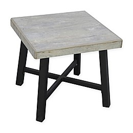 "Bee & Willow™ Home Faux Concrete 18"" Square Side Table in Beige"