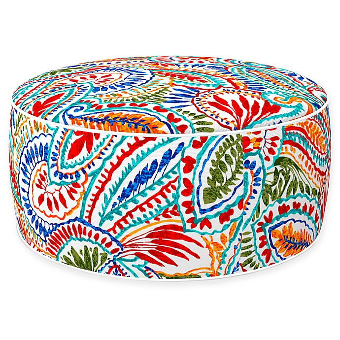 Alternate image 1 for Inflatable Outdoor Ottoman with Removable Cover