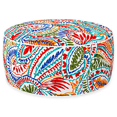 Inflatable Outdoor Ottoman with Removable Cover