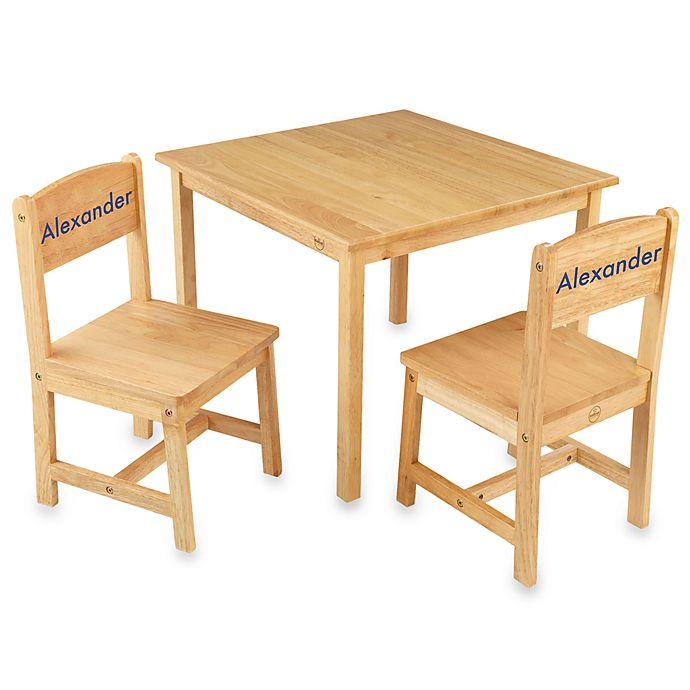 Phenomenal Kidkraft Personalized Noah Boys Aspen Table Chair Set Andrewgaddart Wooden Chair Designs For Living Room Andrewgaddartcom