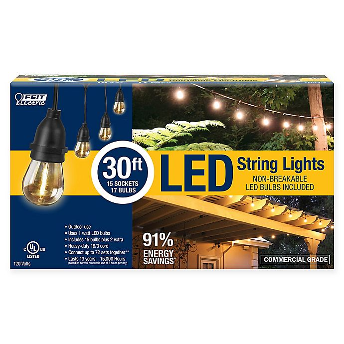 best cheap e4564 4f4ca Feit Electric 15-Count LED String Lights | Bed Bath & Beyond
