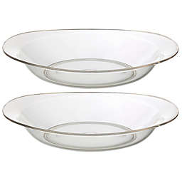 CreativeWare® Shallow Clear Round Serving Bowls (Set of 2)