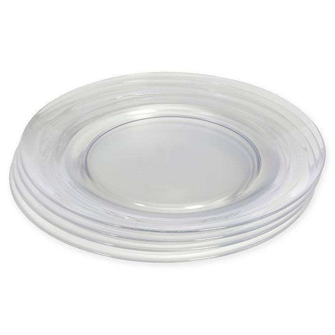Alternate image 1 for CreativeWare® Lemonade Clear Dinner Plates (Set of 4)